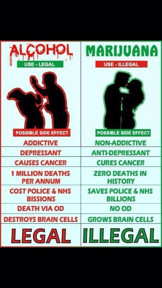 Alkohol vs. marihuana